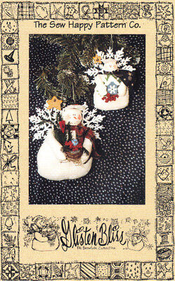 """6"""" Snow Angel Doll and 4"""" Ornament Pattern by The Sew Happy Pattern Company"""
