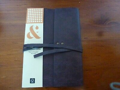 Amperand A5 Address Book 144 Pages White