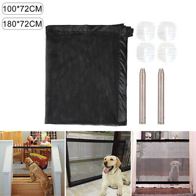 Retractable Pet Dog Gate Safety Guard Folding Baby Toddler Stair Gate Isolation.