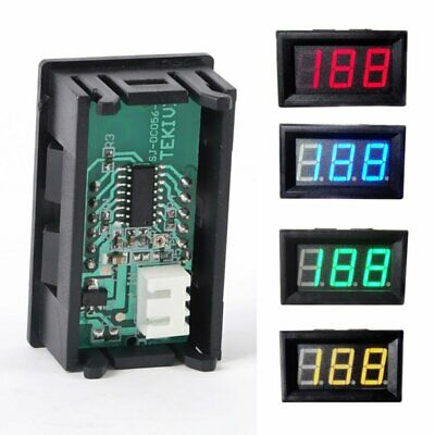 0-100V Voltmeter LED Panel WaterProof Mini DC Digital Display Volt Voltage-Meter
