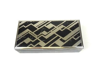 Original German Bauhaus Avantgarde Art Deco Case Metal Box Enamel Suprematism