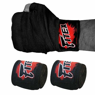VELO Boxing Hand Wraps Bandages Fist Inner 4.5 Gloves Muay Thai MMA Mexican Stretch White