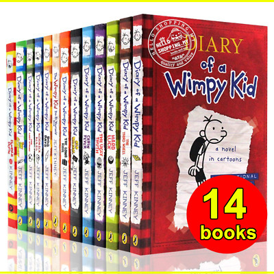 Diary Of A Wimpy Kid Collection 🔥 14 Books 🔥 Set By Jeff Kinney (P~D~F)