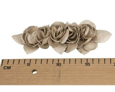 Gold Leather Flower bunch for Fascinators Hat Making DIY Craft Millinery