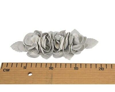 Silver Leather Flower bunch for Fascinators Hat Making DIY Craft Millinery
