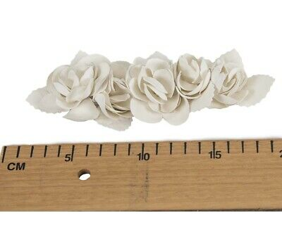 Cream Leather Flower bunch for Fascinators Hat Making DIY Craft Millinery