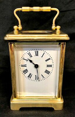 Brass Carriage Clock Mantel Clock Timepiece with Key : Working