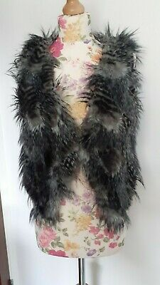 Next Women Faux Fur Fluffy Bolero Size 8