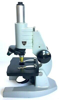 American Optical Spencer Microscope With 2 Objectives Scientific Instrument