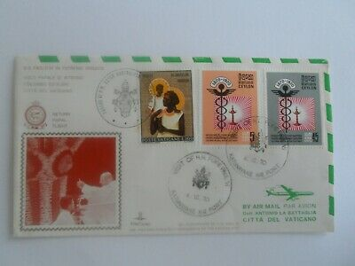 Stamp Mart : Vatican City Pope Paul Vi Visit Sri Lanka Ceylon Flight Cover 1970