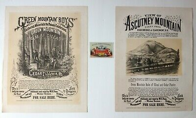 Antique Poster Advertisements, Ascutney Mountain and Balm of Gilead, circa 1868