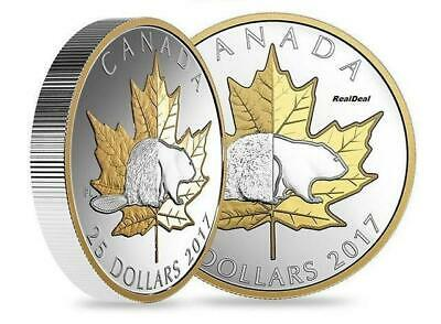 Canada - 2017 'Beaver - Timeless Icons' Piedfort Proof $25 Silver Coin 1oz .9999