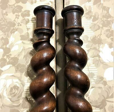 Spiral turned barley twist Column Antique French Wooden architectural salvage