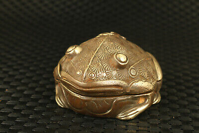 chinese hand casting bronze frog collectable home table decoration collect