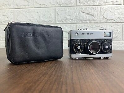Rollei 35 Miniature Viewfinder Film Camera w/Tessar 3.5 40mm Lens + Case/Filter