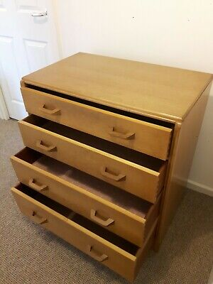 Chest of Drawers G Plan Brandon E Gomme natural oak Retro Vintage 1950s