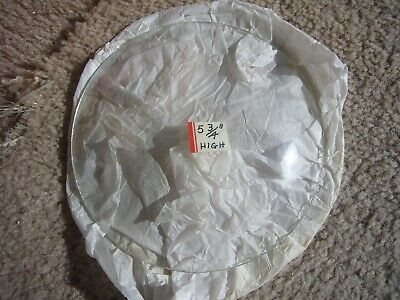 """5 3/4"""" HIGH ~ Convex Clock Glass Replacement  ~ new old stock. Free ship ~ HEAVY"""