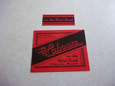 Vintage Old THE CABOOZE BEER LABELS WALTER BREWING Eau Claire Wisconsin Wi Bar