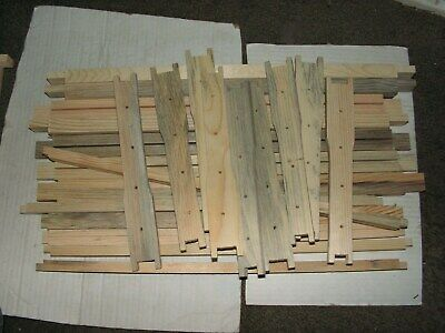 "20, 9 - 1/8"" Deep Bee Hive Frames, Blued Pine. Unassembled. Beekeeping"