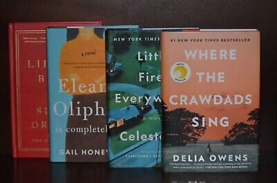 Where the Crawdads Sing by Delia Owens +3 - Reese's Book Club 4 Volume Set VG