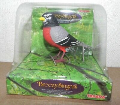 Breezy Singers Robin New In Box Old Stock 1991 Takara Bird Singer