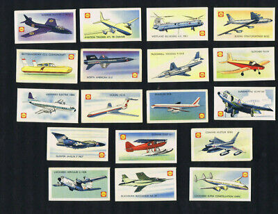 #D36. 1960s  PARTIAL CARD SET(18/48) - AIRCRAFT OF THE WORLD, NEW ZEALAND  ISSUE