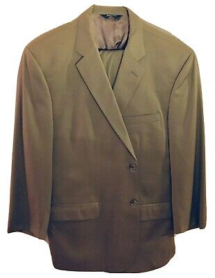 Joseph & Feiss Tan Suit Jacket with Pants Size 41 Regular