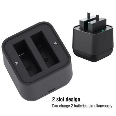 Action Camera Battery Charger Dual Slot USB Charging Black for Insta360 Cameras