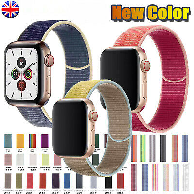 For Apple Watch Series 5/4/3/2/1 Band Nylon Watch Strap Sport Loop iWatch Band