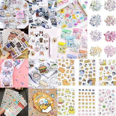 New 70pcs/Set Novelty Stamps Stickers Stationery DIY Scrapbooking Diary Stickers