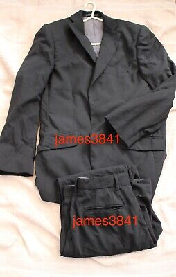 "Mens ENDURANCE 2 pc Black Suit Jacket 42"" & Trousers W36"" L 31"" Ted Baker London"