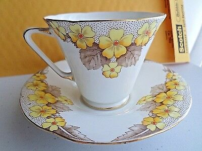 Grafton  A.b. Jones  Fine Bone China England, Cup & Saucer Ashton Pattern