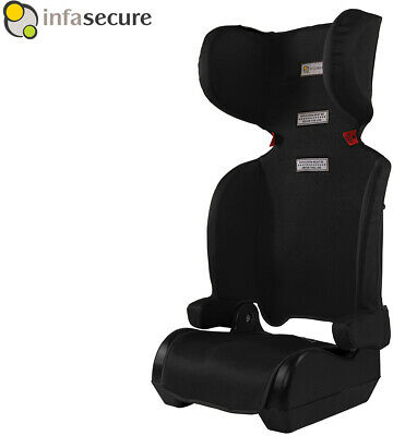Versatile Car Booster Seat Super Lightweight Folding Design 4-8 year ChildBlack