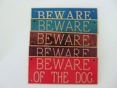Expressions Engravers Acrylic signs -PACK OF 20 MIXED COLOURS BEWARE OF THE DOG
