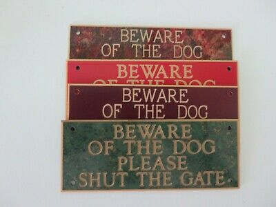 Pack Of 20 Mixed Colours Beware Of The Dog Please Shut The Gate