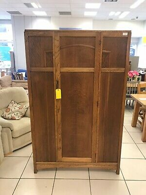 Restored Wooden Wardrobe With Carved Front (Delivery Available)