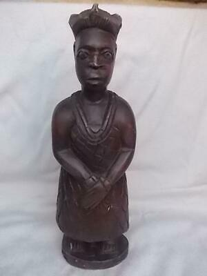 458 / Hand Carved Wooden Early 20Th Century African Gold Coast Ashanti Figure ?