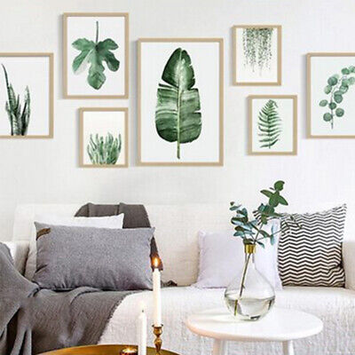 Plant Leaves Art Palm Pictures Photo Prints Fern Wall Home Decor Leaf Botanical