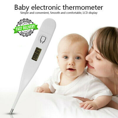 Medical Oral Digital LCD Thermometer Baby Adult Body Safe Ear Temperature UK STK