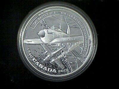 2015 The BATTLE of BRITAIN 1940-Battlefront Prf $20 Gold-Plate Silver .9999