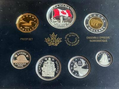 Canada 2015, Pure Silver Proof Set With Colour, 50th Anniv. of the Canadian Flag