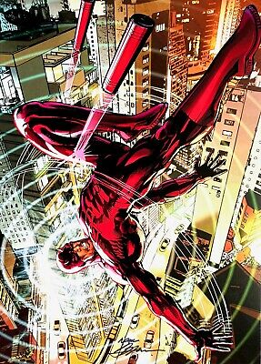 CARY NORD rare DAREDEVIL print SIGNED limited COLOR Last TWO!!