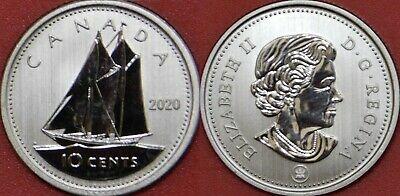 Specimen 2020 Canada 10 Cents From Mint's Set