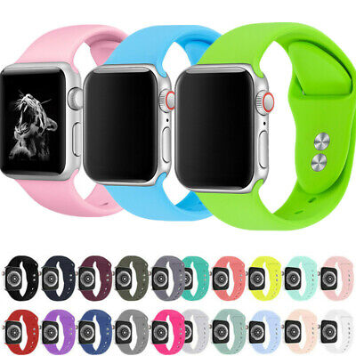 Sports Silicone Watch Band Strap For Apple Watch Series 5 4 3 2 1 38/40/42/44mm