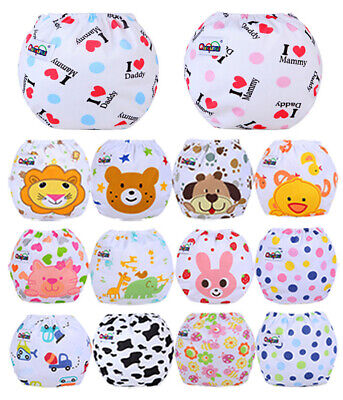 Baby Cloth Diaper Reusable Washable Adjustable Pocket Nappy Cotton Cover