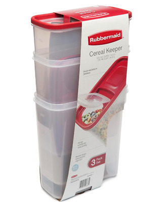 3 Pack Cereal Keeper Storage Container Flip- Top Spout Free Shipping