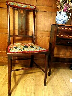Arts and Crafts Chair Circa 1900 - stamped G Y 1087 - Manner of Liberty