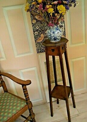 Arts and Crafts Side Table Lamp Table - HEIGHT 105.5 cm