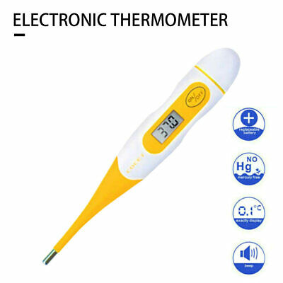 Flexible Tip Digital Medical LCD Thermometer Adult Baby Oral Mouth Rectal Audibl