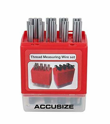 Accusize Industrial Tools U.S. and Metric Thread Measuring Wire Set with